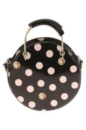 sac a main lollipops 24187 smiley polka round bag noir