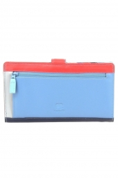 compagnon avec emplacement chequier mywalit 1203 large tab breast wallet bleu
