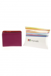 porte-monnaie mywalit 231-medium wallet w/zip+id ok rose
