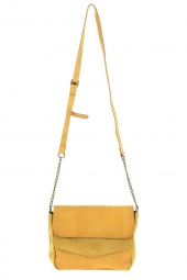 sac a main pieces 17107569 pcsvale leather jaune