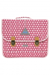 cartable pour fille poids plume tri1538 triangles rose