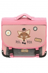 cartable pour fille pol fox ca38-revtc-reversible rose