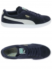 baskets mode puma suede classic bleu