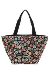 sac a main reisenthel zs7048 shopper m happy flowers noir
