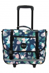 cartable trolley pour fille rip curl lbpgs1 wh satchel flora bleu