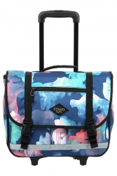 cartable trolley pour fille rip curl lbpgy1 wh proschool watercamo bleu
