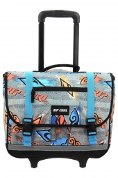 cartable trolley pour garcon rip curl bbpvh2 wh brush stokes gris