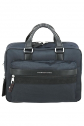 porte-documents ordinateur tommy hilfiger am0am07262 elevated nylon bleu